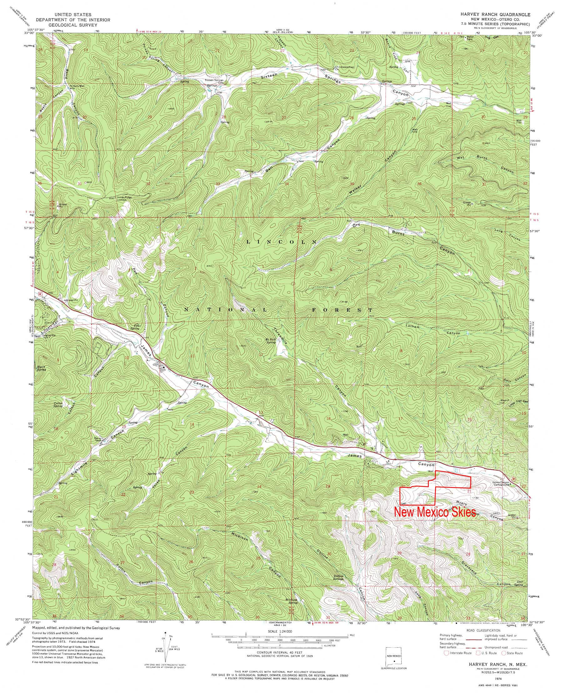 Maps NM Skies - Topographical map of new mexico